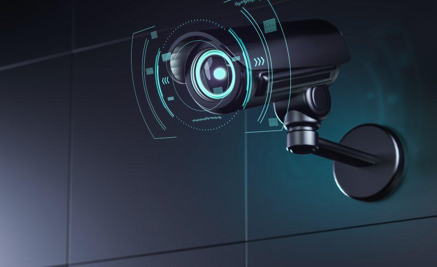 CCTV mounted camera with AI integration